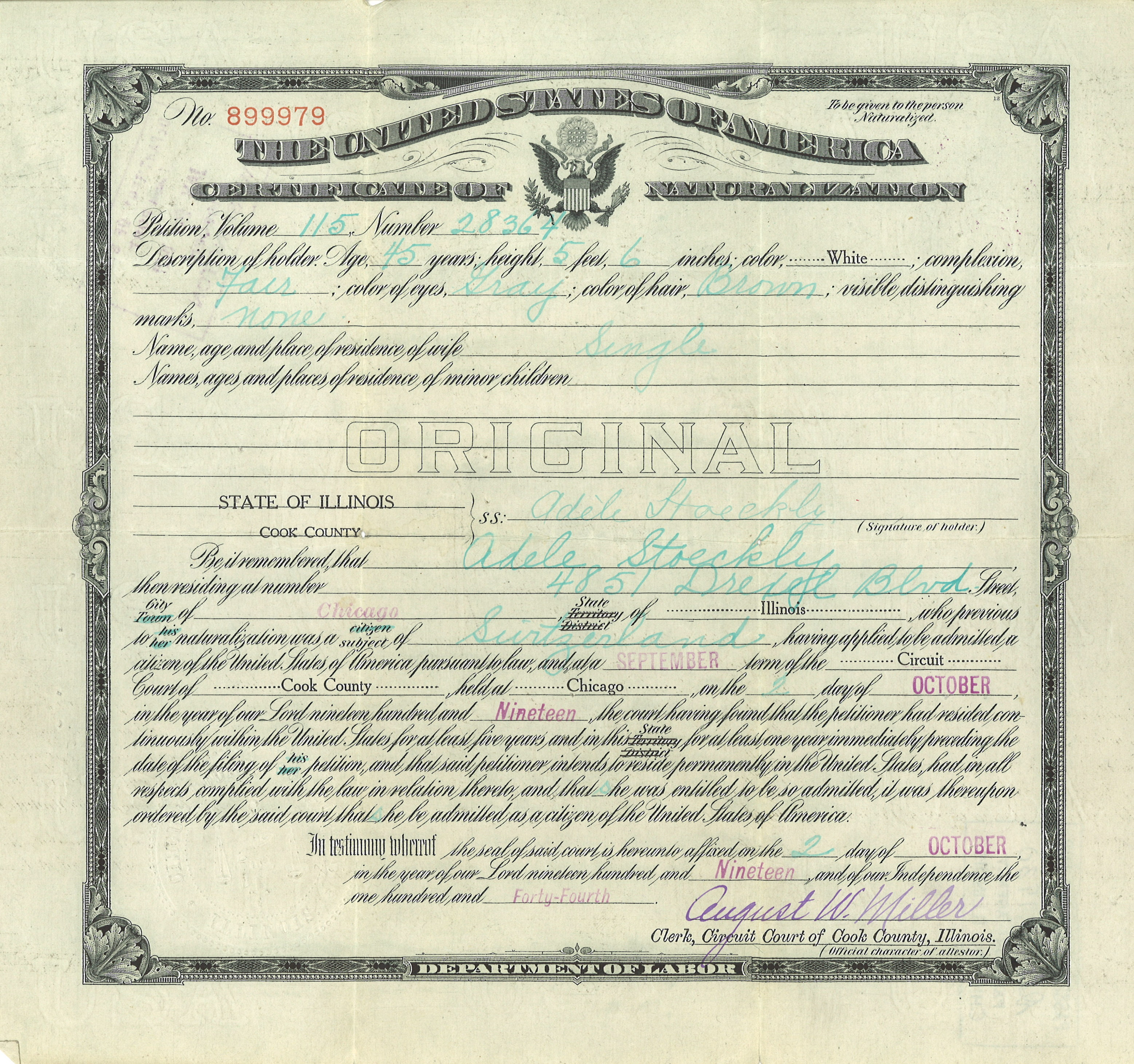 Best of image of birth certificate chicago business cards and adele stoeckly from birth certificate chicago image source craw aiddatafo Choice Image
